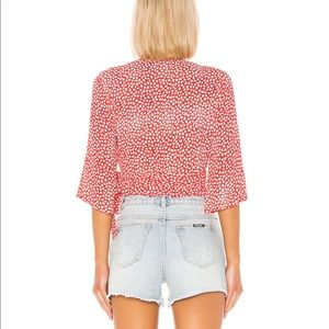 "MINKPINK Tops - MinkPink ""Tiny Bloom"" Wrap Top"